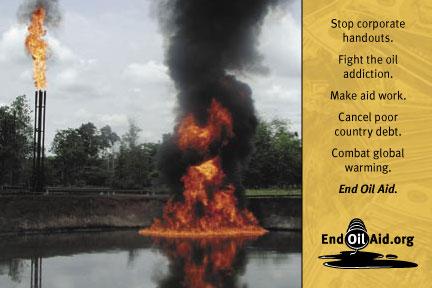 End Oil Aid postcard
